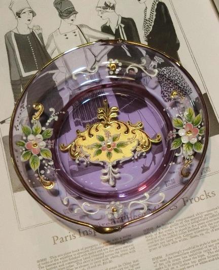 ベネチアンガラスの灰皿 (2)