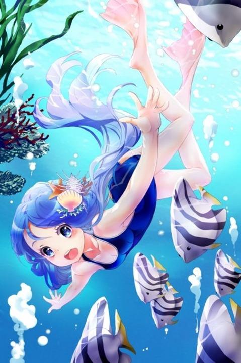 スク水を着てる可愛い女の子の二次エロ画像② 100枚-090