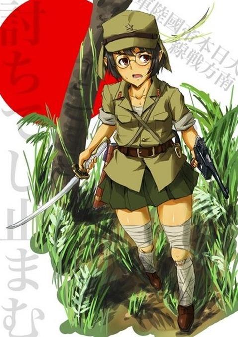 軍服を着た女の子の二次エロ画像 193