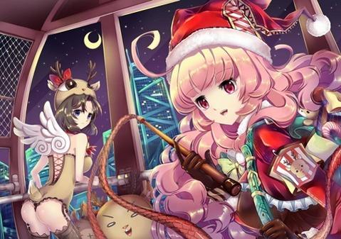 【Merry Xmas】エッチで可愛いガールズサンタの二次エロ画像 019
