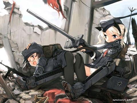 軍服を着た女の子の二次エロ画像 061