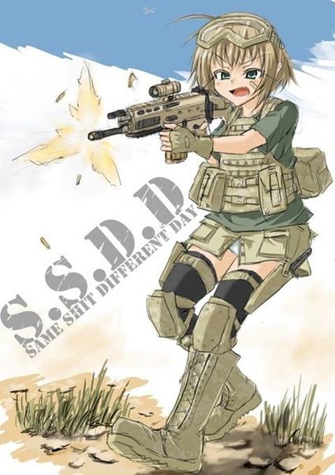 軍服を着た女の子の二次エロ画像 142