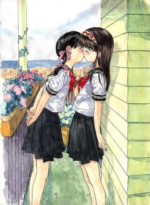 女の子同士が絡み合う二次エロ画像⑤ 100枚-078