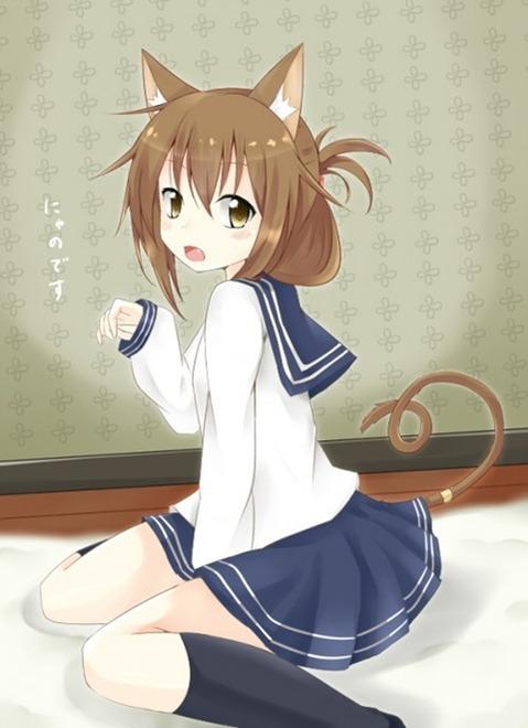 猫耳が可愛い女の子の二次エロ画像① 100枚-079