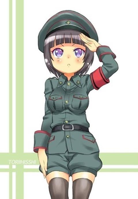 軍服を着た女の子の二次エロ画像 186