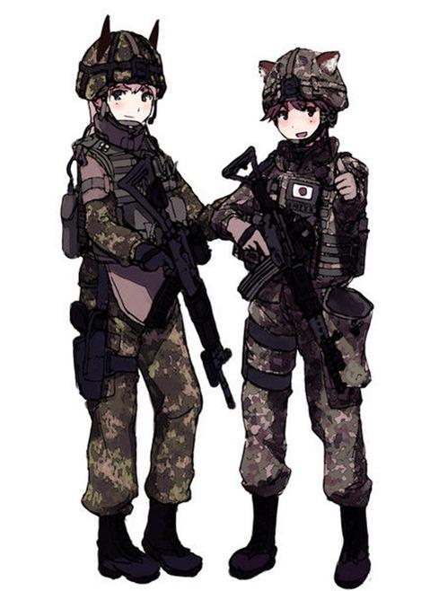軍服を着た女の子の二次エロ画像 134