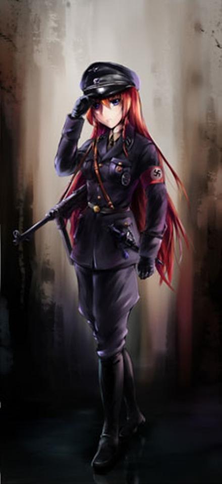 軍服を着た女の子の二次エロ画像 077