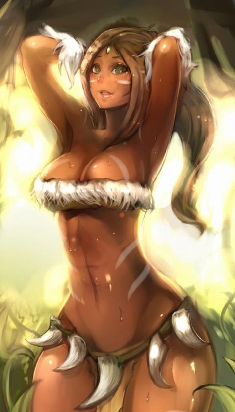 褐色肌がセクシーな女の子の二次エロ画像② 100枚-058