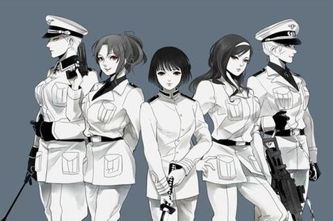 軍服を着た女の子の二次エロ画像 254