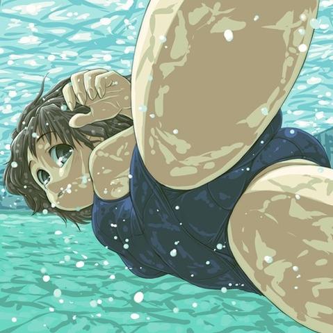 スク水を着てる可愛い女の子の二次エロ画像⑥ 100枚-056