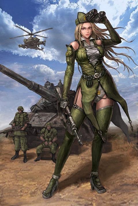 軍服を着た女の子の二次エロ画像 188
