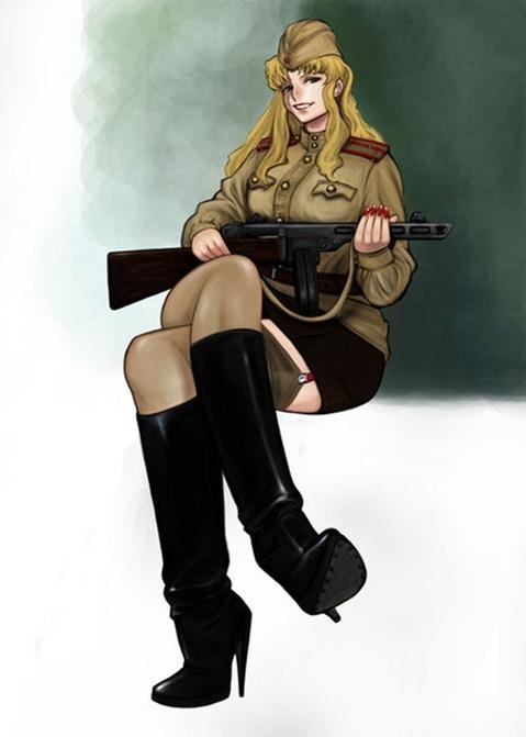 軍服を着た女の子の二次エロ画像 100