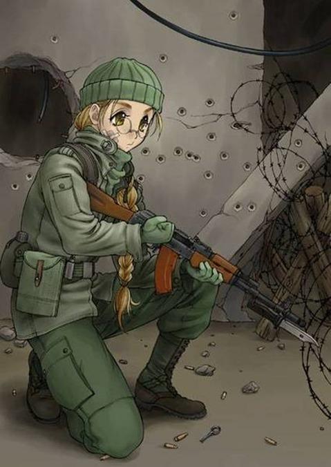 軍服を着た女の子の二次エロ画像 145