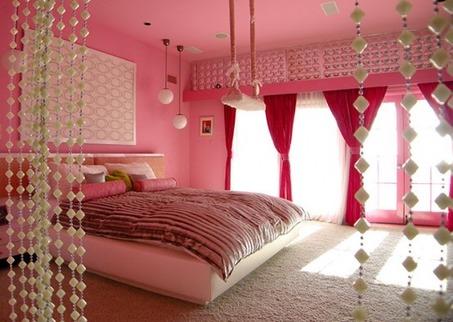 cute-pink-red-girls-bedroom