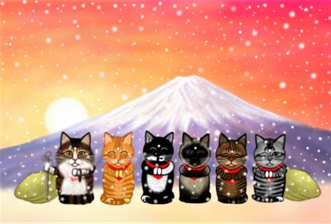 冬 富士山年賀状用2 (2)2