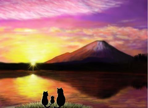 6,15富士山夕日7