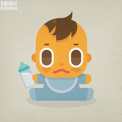 100%カワイイ赤ちゃん つやつやネムリーのイラスト2014 100%KAWAII NEMURY Riku & Haru TsuyaTsuya Nemury リク&ハル