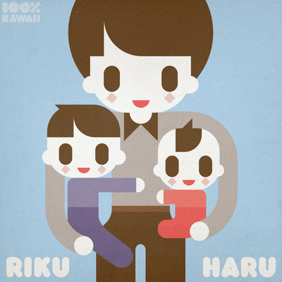 つやつやネムリーのイラスト2014 100%KAWAII NEMURY 100%カワイイ Riku & Haru TsuyaTsuya Nemury リク&ハル