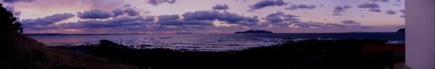 波戸岬の夕焼けパノラマ1