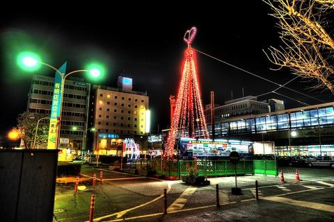 佐賀駅イルミHDR