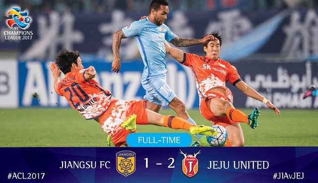 ◆ACL◆済州(韓国)が江蘇(中国)に勝利したためG大阪のGL敗退が濃厚に