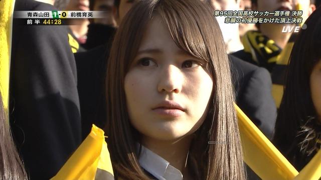 ◆画像◆前橋育英QBK直前の応援席女子高生が美しすぎると話題に!
