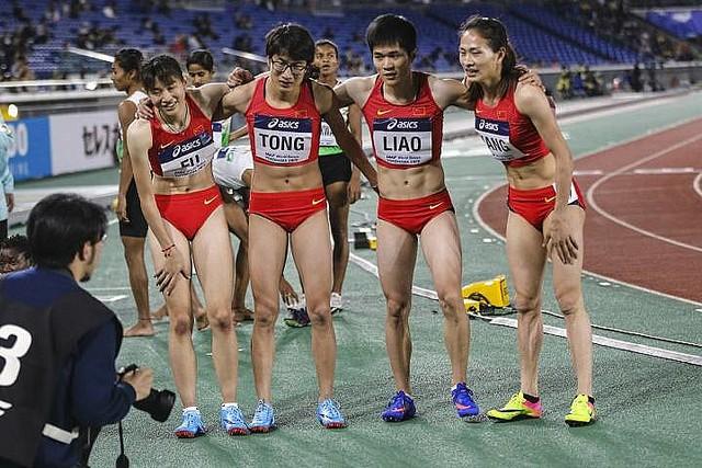 ◆画像◆中国の全国陸上競技大会で優勝した女子チームの風貌が…w