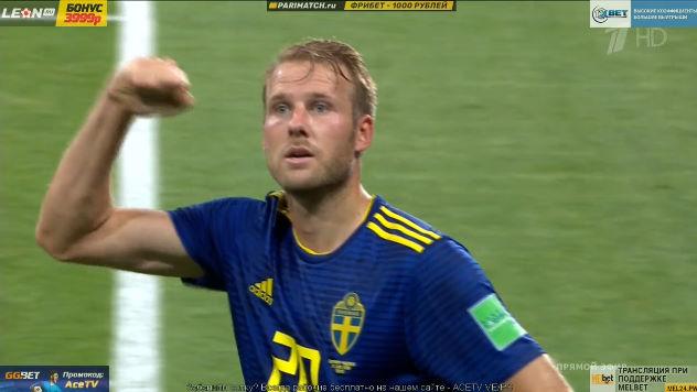 ◆W杯速報◆F組2節 ドイツ×スウェーデン、オラ トイボネン!のゴールでなんとスウェーデン先制!