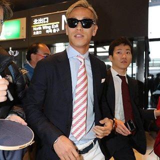 ◆ミラン本田◆イタリアへ渡航直前の本田空港ファッションチェック