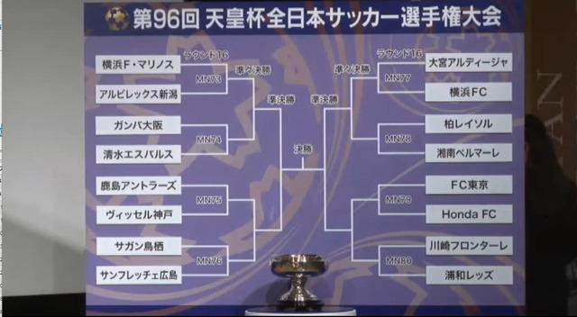 ◆天皇杯◆第96回天皇杯R16組合せ決定!いきなり川崎F×浦和、鹿島×神戸の好カード実現!
