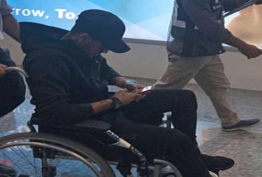 ◆悲報◆ネイマール想像以上の重症、移動時は車椅子に乗って