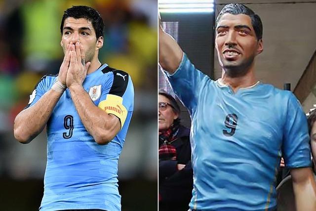 ◆悲報◆ウルグアイの彫刻家が作ったスアレスの銅像が酷すぎると英紙が話題に!