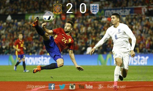 ◆好プレー◆スペイン×イングランド スペインDFガスパールのゴールが凄すぎると話題に!