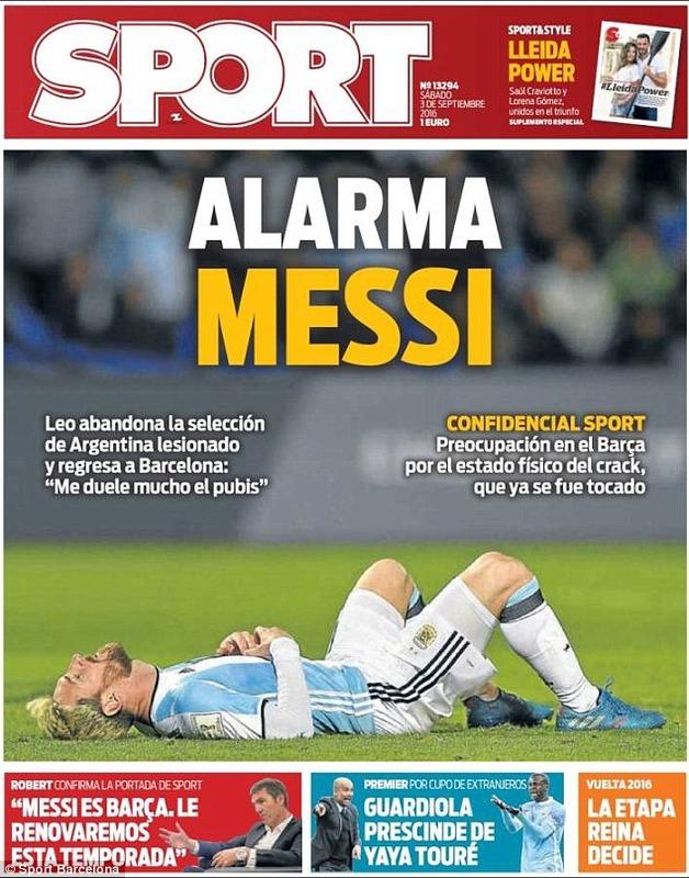 ◆悲報◆リオネル・メッシ W杯南米予選ウルグアイ戦後に股関節の痛みを訴え代表離脱!