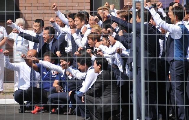 ◆日本代表◆選手23人そろって帰国の途に、既に機上