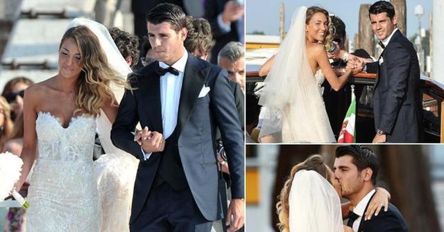 ◆リーガ◆レアルのモラタがナイスバディで健康美女の彼女と美女だらけの結婚式!