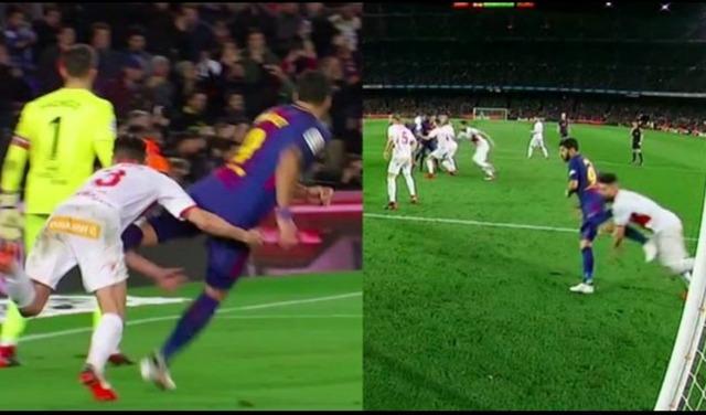 ◆悲報◆ルイス・スアレス、マーカーの股間を後ろ蹴り!見事にヒットして物議!「スペインの恥だ」by スペインTV
