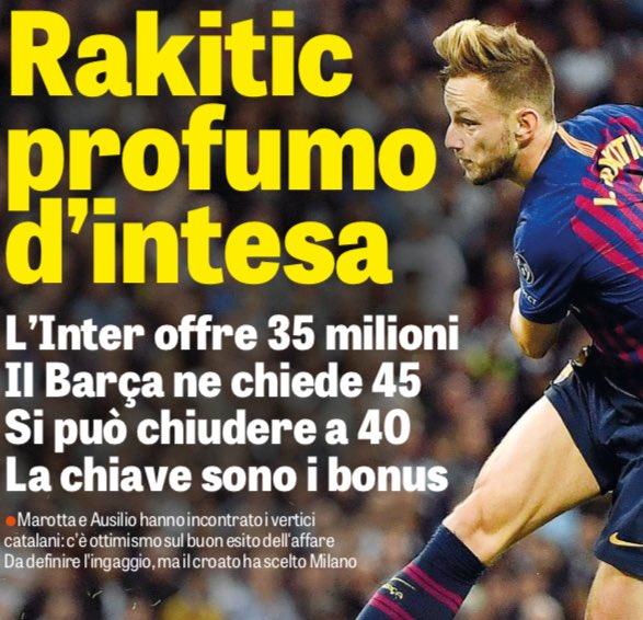 ◆セリエA◆インテル、バルサMFラキティッチ獲得へ…€35m用意…byガゼッタ