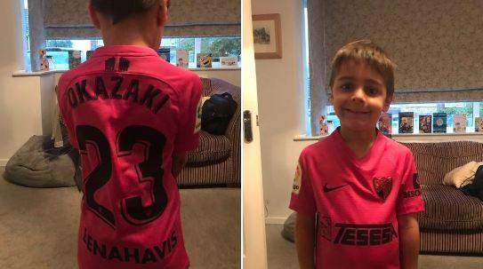 ◆悲報◆マラガファンの男の子(6才)誕生日に岡崎慎司のレプリカシャツをオネダリするも届いたときにはもういなかった(泣)
