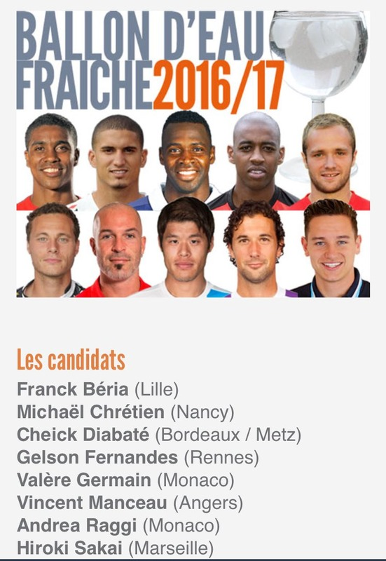 ◆朗報◆マルセイユ酒井ゴリ、リーグアンのイケメン選手人気投票10人にノミネート!