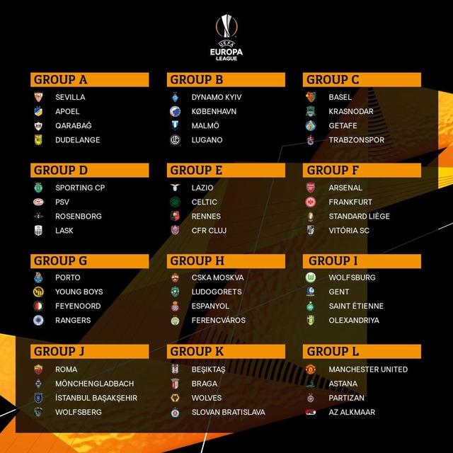 ◆UEFA-EL◆強豪参戦ELグループステージ組み合わせ決定! 8選手の日本人所属クラブの相手は?