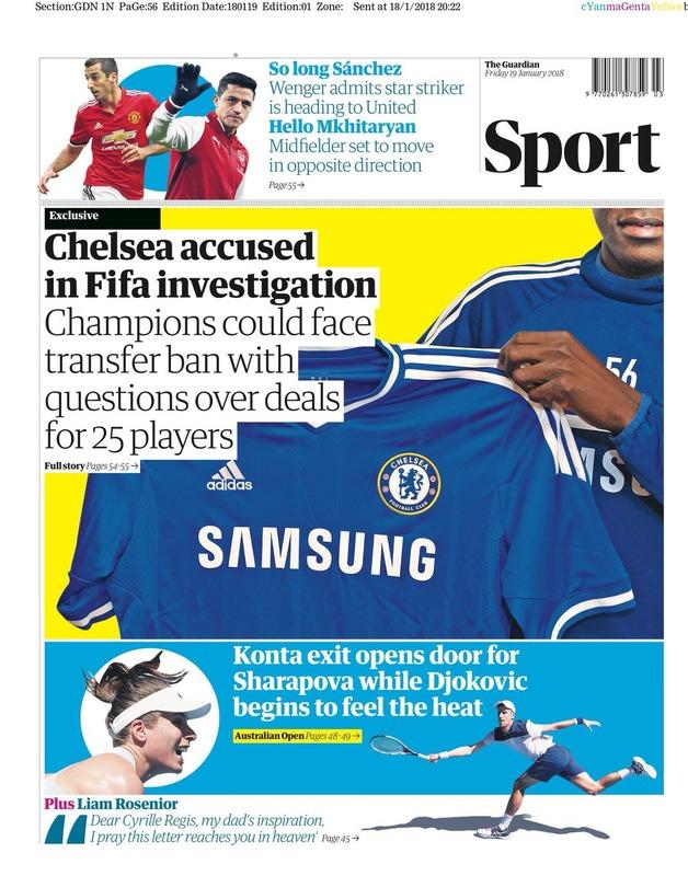 ◆悲報◆チェルシー若年選手との契約問題でFIFAから補強禁止措置の可能性浮上