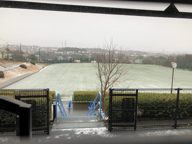 ◆悲報◆川崎Fの麻生の練習場に雪が積もる