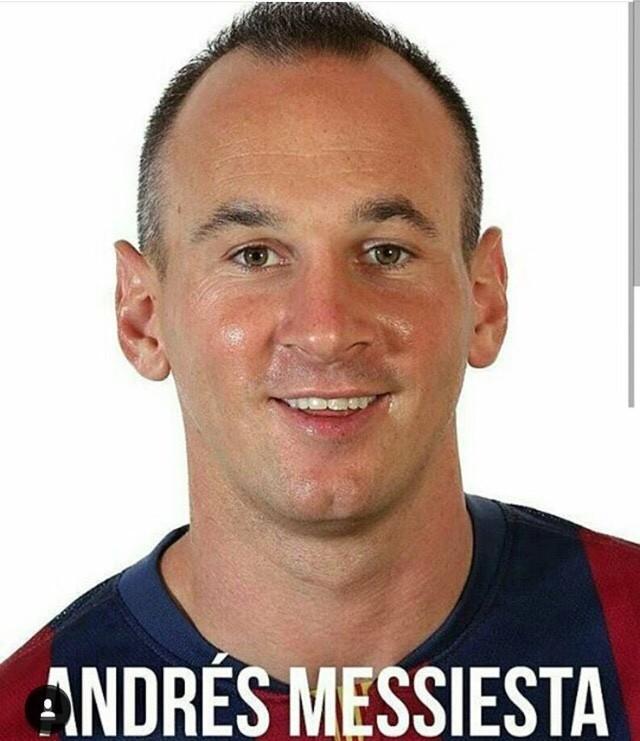 ◆画像◆メッシの顔とイニエスタの顔をミックスした結果www