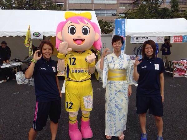 ◆なでしこ◆なでしこリーグオールスターの浴衣とパジャマユニ選手たち!