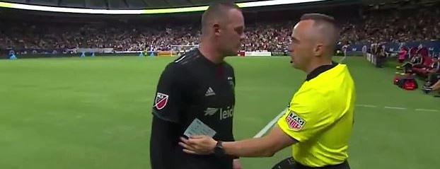 ◆悲報◆ウェイン・ルーニーさん、MLSでも血気盛ん…肘打ち一発退場に第4審に暴言吐いて物議