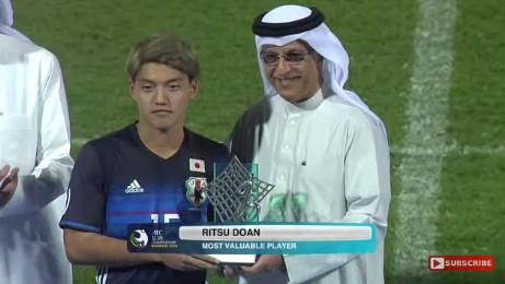 ◆AFC-U19選手権◆大会MVPはU19日本代表MF堂安律(G大阪)が受賞