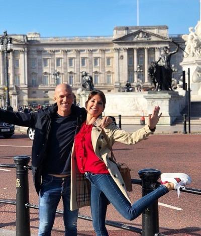 ◆画像◆レアル前監督ジダン、奥さんとロンドン観光したりリザラスと登山したり羽根を伸ばす