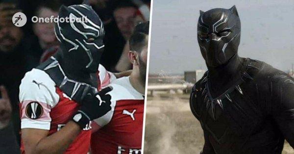 ◆EL珍◆アーセナル3点目のオーバメヤン、ゴール裏にブラックパンサーマスク隠し持ってマスクパフォwww