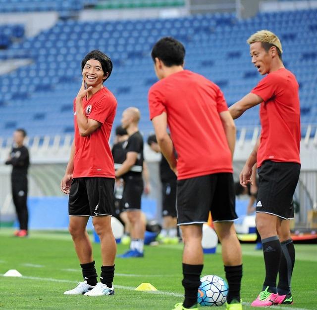 ◆悲報◆日本代表の非公開練習紅白戦主力組の布陣、またも情報漏えい、杉本・柴崎・井手口らが入る